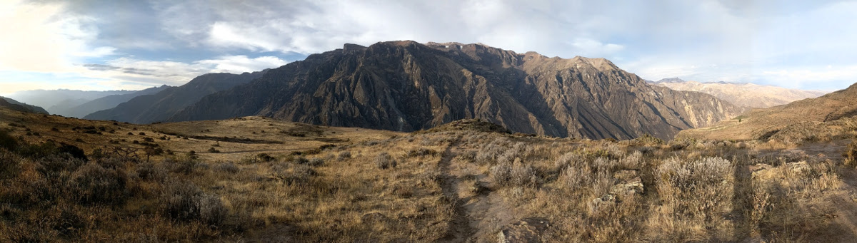 Panorama over the Colca Canyon