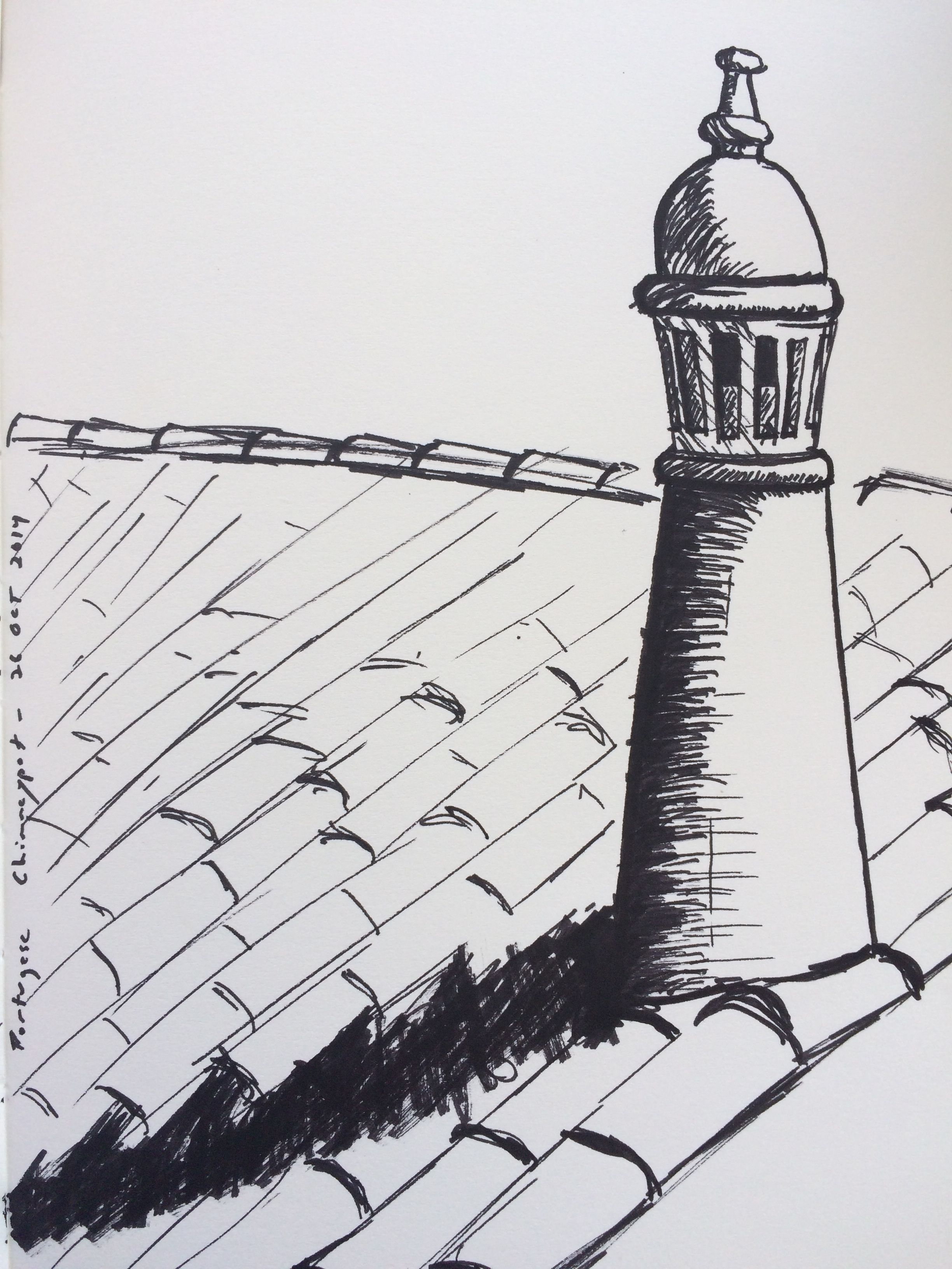 Drawing of a Portugese chimney